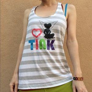 Disney Tops - T I N K Tinkerbelle TINK Tank Disney Parks